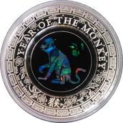 1 Dollar - Elizabeth II (4th Portrait - Opal Lunar Monkey) -  reverse