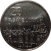 20 Cents - Elizabeth II (4th Portrait - Fromelles) -  reverse
