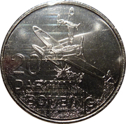 20 Cents - Elizabeth II (Darwin Bombing) -  reverse