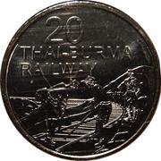 20 Cents - Elizabeth II (Thai-Burma Railway) – reverse