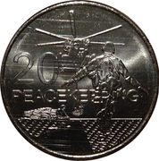 20 Cents - Elizabeth II (Peacekeeping) – reverse