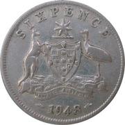 6 Pence - George VI -  reverse