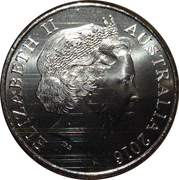 20 Cents - Elizabeth II (4th Portrait - Dogs at War) -  obverse