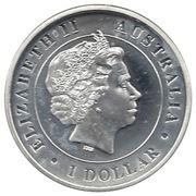 1 Dollar - Elizabeth II (Australian Funnel-Web Spider) -  obverse
