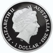 1 Dollar - Elizabeth II (4th Portrait - Eastern Grey Kangaroo - Colourised) -  obverse