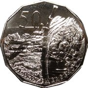 50 Cents - Elizabeth II (Malayan Emergency) -  reverse