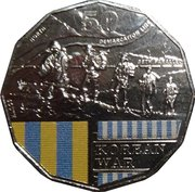 50 Cents - Elizabeth II (Korean War) -  reverse