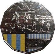 50 Cents - Elizabeth II (Korean War) -  reverse