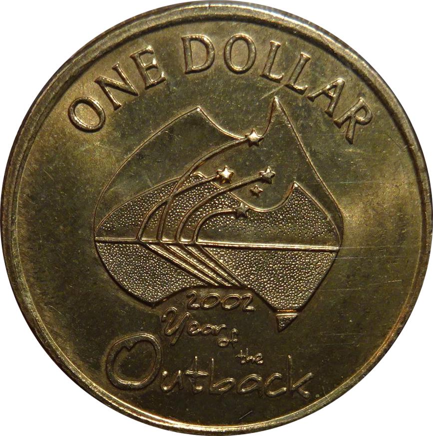 1 Dollar Elizabeth Ii Year Of The Outback