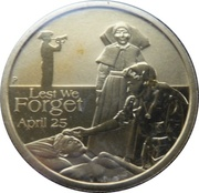 1 Dollar - Elizabeth II (ANZAC Day - Nurses) -  reverse