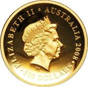 100 Dollars - Elizabeth II (4th Portrait - Koala - Gold Bullion Coin) -  obverse