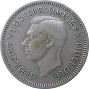 "6 Pence - George VI (without ""IND:IMP"") – obverse"