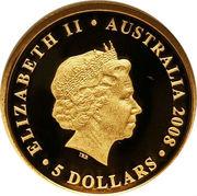 5 Dollars - Elizabeth II (4th Portrait - Koala - Gold Proof) -  obverse