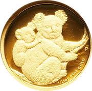 5 Dollars - Elizabeth II (4th Portrait - Koala - Gold Proof) -  reverse