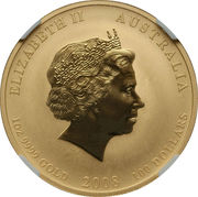 100 Dollars - Elizabeth II (4th Portrait - Year of the Mouse - Gold Bullion Coin) -  obverse