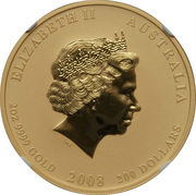 200 Dollars - Elizabeth II (Year of the Mouse) -  obverse