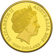 3000 Dollars - Elizabeth II (4th Portrait - 2016 Australian Olympic Team - Gold Proof) -  obverse