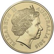2 Dollars - Elizabeth II (2016 Australian Olympic Team - Yellow) -  obverse