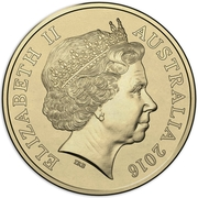 2 Dollars - Elizabeth II (4th Portrait - 2016 Australian Olympic Team - Green) -  obverse