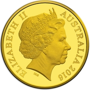 50 Cents - Elizabeth II (4th Portrait - 50th Anniversary of Decimal Currency - Gold Proof) -  obverse