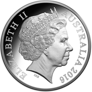 50 Cents - Elizabeth II (4th Portrait - 50th Anniversary of Decimal Currency - Silver Proof) -  obverse