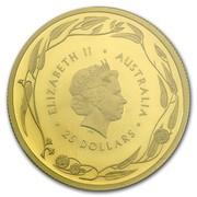 25 Dollars - Elizabeth II (4th Portrait - Gold Bullion Coin) -  obverse