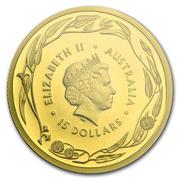 15 Dollars - Elizabeth II (4th Portrait - Gold Bullion Coin) – obverse