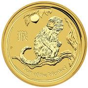200 Dollars - Elizabeth II (4th Portrait - Year of the Monkey - Gold Bullion Coin) -  reverse