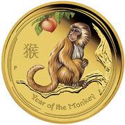 15 Dollars - Elizabeth II (4th Portrait - Year of the Monkey - Gold Bullion Coin) – reverse