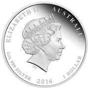 1 Dollar - Elizabeth II (4th Portrait - Year of the Monkey; Colorised) -  obverse