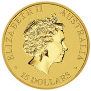 15 Dollars - Elizabeth II (4th Portrait - Kangaroo - Gold Bullion Coin) -  obverse