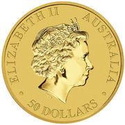 50 Dollars - Elizabeth II (4th Portrait - Kangaroo - Gold Bullion Coin) -  obverse