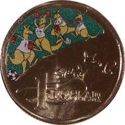 1 Dollar - Elizabeth II (Australian Olympic Team) -  reverse