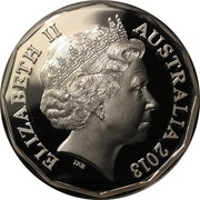 50 Cents - Elizabeth II (60th Anniversary of the Coronation of Her Majesty Queen Elizabeth II; Silver Proof) – obverse