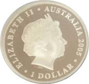 1 Dollar - Elizabeth II (Coco-Keeling islands 50th anniversary Silver proof) -  obverse