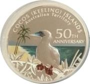 1 Dollar - Elizabeth II (Coco-Keeling islands 50th anniversary Silver proof) -  reverse