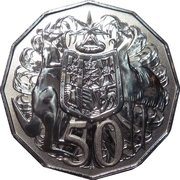 50 Cents - Elizabeth II (4th Portrait - Her Majesty The Queen 90th Birthday) – reverse