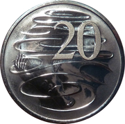 20 Cents - Elizabeth II (2nd Portrait - Her Majesty The Queen 90th Birthday) -  reverse