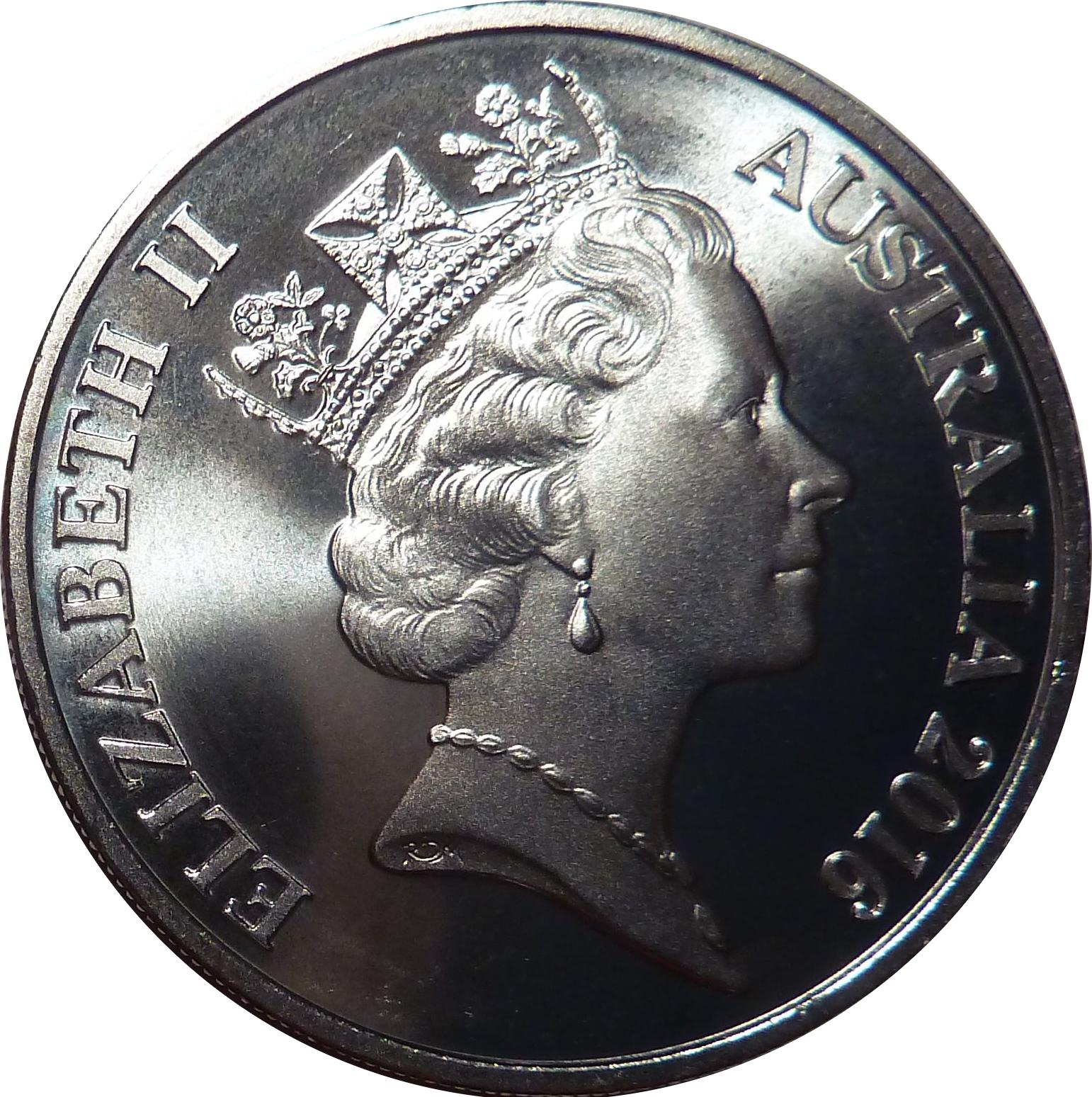 2016 Frosted 20 cent Queen Elizabeth 90th Birthday Machin Portrait Effigy UNC
