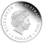 1 Dollar - Elizabeth II (4th Portrait - RSL Centenary - Silver) -  obverse