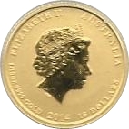 15 Dollars - Elizabeth II (4th Portrait - Year of the Horse - Gold Bullion Coin) -  obverse