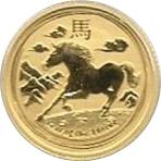 15 Dollars - Elizabeth II (4th Portrait - Year of the Horse) -  reverse