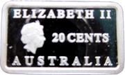 20 Cents - Elizabeth II (4th Portrait - Rum Rebellion - Silver Proof) – obverse