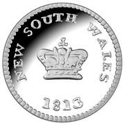 25 Cents - Elizabeth II (4th Portrait - Australian Holey Dollar and Dump) -  reverse