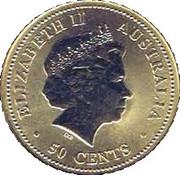 50 Cents - Elizabeth II (Dame Edna Everage) -  obverse