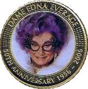 50 Cents - Elizabeth II (Dame Edna Everage) -  reverse