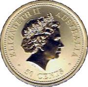50 Cents - Elizabeth II (The Queen's 80th Birthday) -  obverse