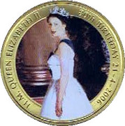 50 Cents - Elizabeth II (The Queen's 80th Birthday) -  reverse