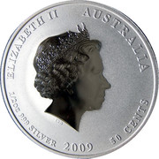 50 Cents - Elizabeth II (4th Portrait - Year of the Ox - Silver Bullion Coin) – obverse