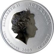 """50 Cents - Elizabeth II (""""Lunar Year Series II"""") -  obverse"""